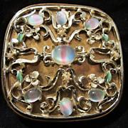 "SALE Fabulous Rare Art Glass "" Givre"" Evans Enameled Compact"