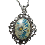 SALE Gorgeous Florenza signed Victorian Revival Necklace