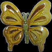 Stunning Vintage Enamel Butterfly Pin 1960's Retro