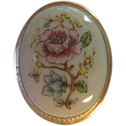 "SALE ""Lenox"" signed Flower Porcelain Pin/Pendant"