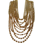 SALE NAPIER Couture Multi Strand Linked Necklace Runway