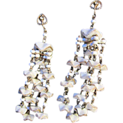 SALE Castlecliff Chandelier Earrings Poured Glass Runway Couture