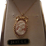 SALE Sweet Cameo Pendant Necklace