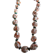 SALE Natural Seashell Flower Lei Necklace