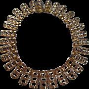 Unique Vintage Statement Semi Curved Collar Necklace