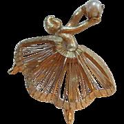 SALE Brooks Vintage Ballerina Pin Cultured Pearl