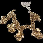 SALE Vintage Disney Charm Bracelet Mickey Mouse signed