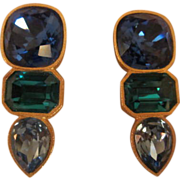 SALE Vintage Runway Couture MARY FROST  Earrings Bold & Beautiful