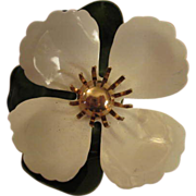 Vintage Enamel Flower Power Pin signed Sarah Coventry
