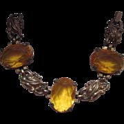 SALE Older Citrine Glass Bracelet