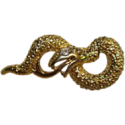 SALE Fab Vintage Snake Figural Pin