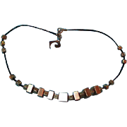 SALE Pierre Cardin Modernist Cubist Necklace