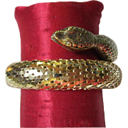 SALE Whiting & Davis Vintage Gold tone Scaled Wrap Bracelet