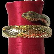 SALE Whiting & Davis Vintage Gold tone Scaled Wrap Bracelet
