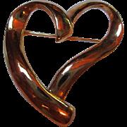 SALE Trifari Modernist Heart Pin/Brooch