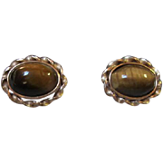 SALE Krementz Tiger Eye Vintage Cufflinks