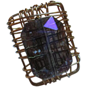 SALE Fun & Fabulous Handmade wire Ring with Huge Purplish Iridescent Emerald Cut Top