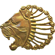 SALE MMA Metropolital Museum of Art Rendition of Antique Lion Pin/Pendant