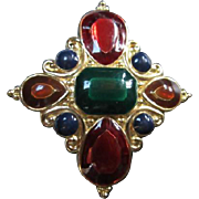 SALE Jay Strongwater signed Beautiful Jewel tone Enameled Pendant or Scarf clip