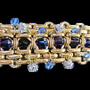 SALE Gorgeous  Wide Jeweled Runway Statement Bracelet