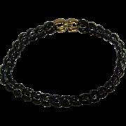 "SALE Napier Vintage Dark Navy Blue Enamel Link 18"" Chain"