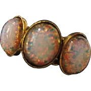 SALE Gorogeous Vintage Triple fx Opal Braided Band Adjustable Ring