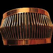 SALE Classic Renoir signed Shadows Copper Open Cuff Vintage Bracelet Book Piece