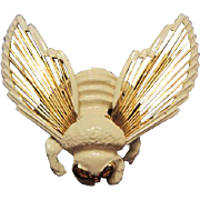 Cute as a Bug Wired Wings Enamel Bee Figural Pin