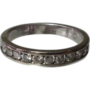 SALE 14K White Gold & Diamond  Anniversary Band ½ CTTW