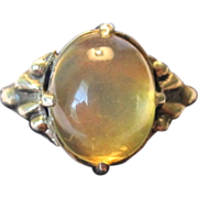 SALE VALENTINE'S SPECIAL!  25% OFF! Georgian Sterling Silver Moonstone Unisex Ring