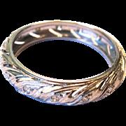 SALE VALENTINE'S SPECIAL! 50% Off! Estate Vintage Platinum Eternity Diamond Ring