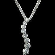 SALE Classic  14K White Gold Journey 0.50ct. Diamond Pendant