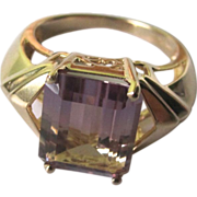 SALE Vintage 10K Yellow Gold With Ametrine Gem Ring