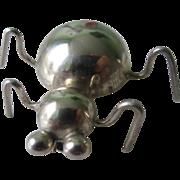 Adorable Vintage Sterling Silver Taxco Bug Brooch