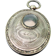 SALE Victorian Gold Over-Lay Mourning Locket c.1850