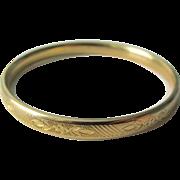 Vintage Gold Filled Child's Bangle Bracelet