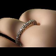 SALE Art Deco Vintage Diamond Platinum Eternity Wedding Band Ring