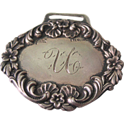 SALE Antique Sterling Silver Luggage Tag