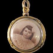 SALE Antique Victorian Gold Filled Tri Color Crystal Locket