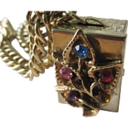 Darling Vintage Charm Bracelet With Pill Box Locket