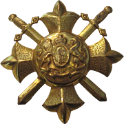 Vintage Miriam Haskell Royal Code of Arms Brooch