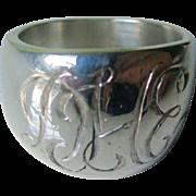 Vintage Solid Sterling Silver Signet Ring  70's