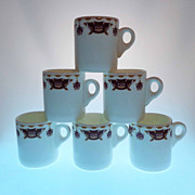 6 WEDGWOOD Bone China Hotelware Restaurant Ware Demi-tasse Cups Made in England