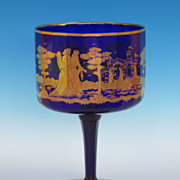 REDUCED Stunning Blue Glass Compote