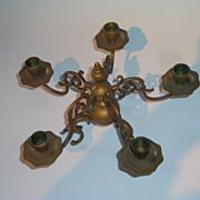 A Fine 19th Century Brass Candleholder