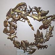 Brass Holiday Wreath