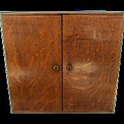 Late 19th Century Honey Oak Cigar Cabinet