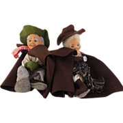REDUCED Pair of cloth dolls