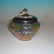 Art glass cracker jar