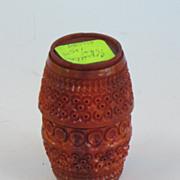 REDUCED Coquilla Nut Barrel shaped box